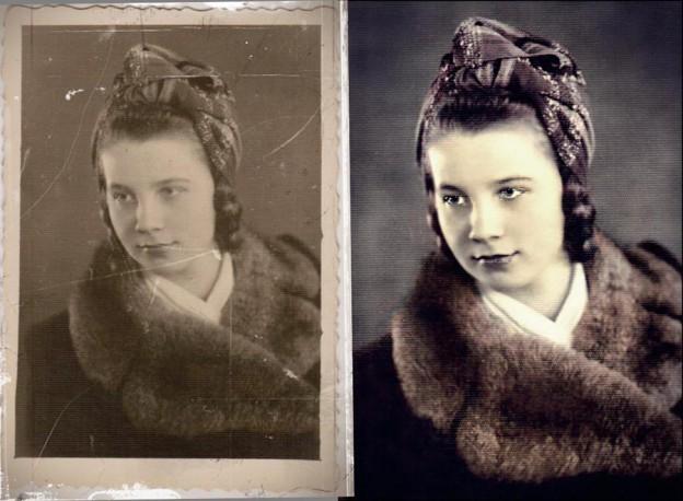 renowacja starego zdjęcia
